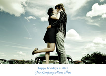 Stylish Font Holiday Photo Card